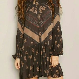 Free People From Your Heart Boho Floral Dress
